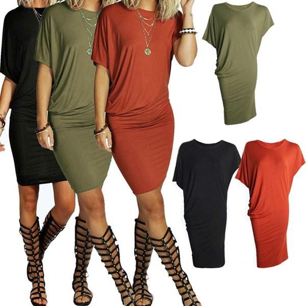 ファッションレディースセクシーカジュアルイブニングパーティーカクテルBodyconミニショートドレス
