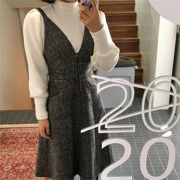 小売パフフリルニットnew 女性ニット/カーディガン/タートルネックニット/韓国ファッション