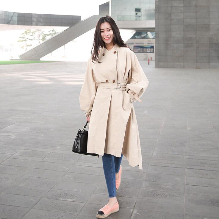 【送料無料】 ZAKKA 韓国ファッション 人気 新型 レディースファッション/トレンチコート/ブラウス/レディース服/ロングコート/コート/コート レディース/韓国 コート/レディースファッシ