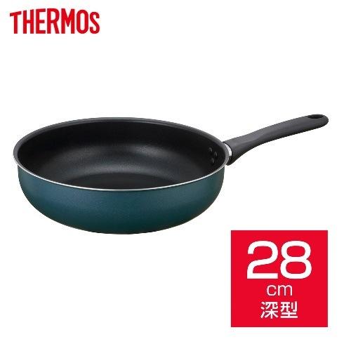サーモス THERMOS 取っ手付き炒め鍋フライパン 28cm ネイビー KFD-028D NVY 【ガス火専用・IHでは使用できません】 (のし・包装不可) 2019年秋 新製品