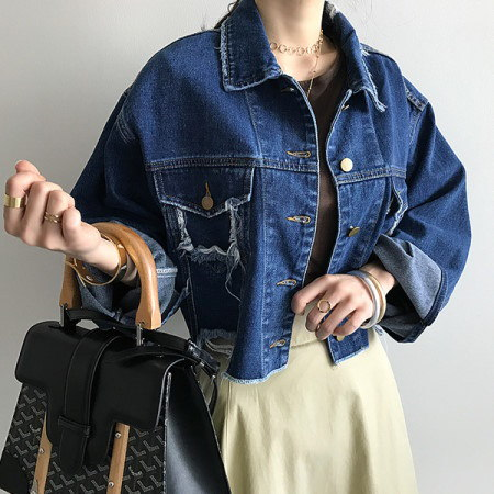 Lee Quincy Vintage Denim Jacket Korean Style