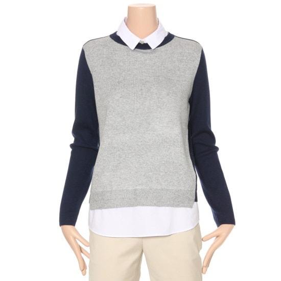 ルシャプLeShopカラ配色ニートLG1KP900 カラーニット/ニット/セーター/韓国ファッション