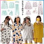 608ee854746d35 豪華7点SET💓韓国ファッション 花柄ルームウェア/パジャマ/セットアップ