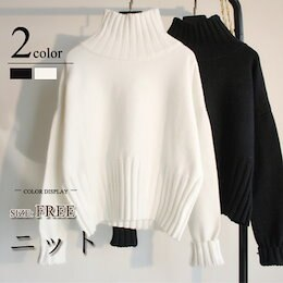 《新品追加》人気爆発商品厚手のハイネックニット/タートルネック/長袖Tシャツ/ワイシャツ/スカート/コート/スケートボード/レディスファッション 韓国ファッション