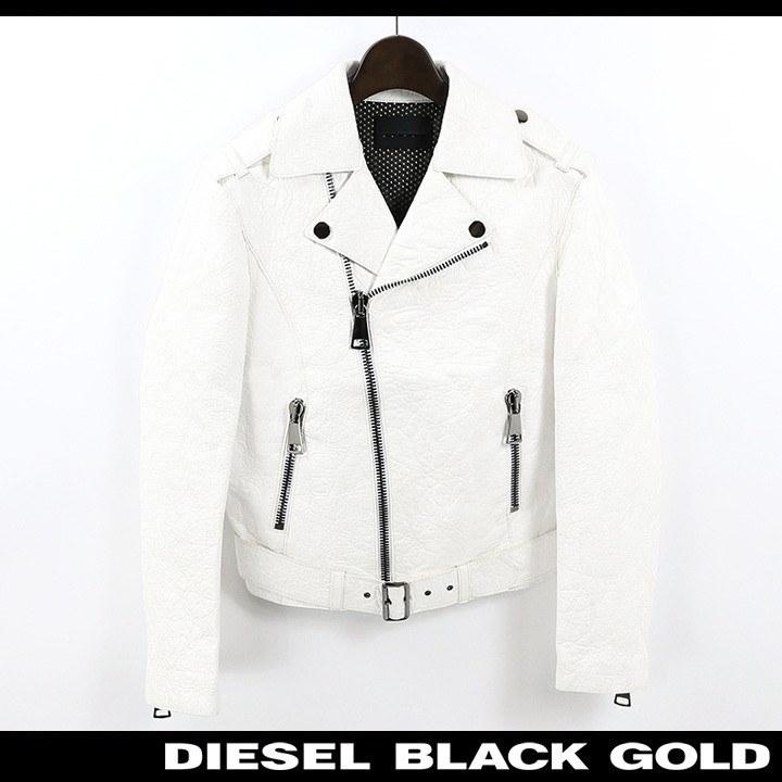 ディーゼルブラックゴールド DIESEL BLACK GOLD ライダースジャケット 春物 レディース 羊革 ラムレザー ランダム 型押し  レザー ダブル LEFECTO-B