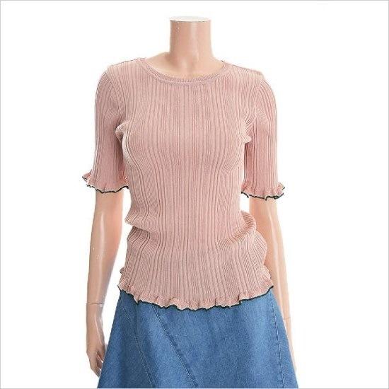 リストシンプルゴルジラウンドニートTSKPOH20030 パターンニット/ニット/セーター/韓国ファッション