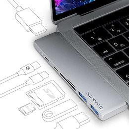 最新 MacBook Pro Air 専用 7in1 USB-C ハブ Thunderbolt 3 多機能 ポート を搭載した Type