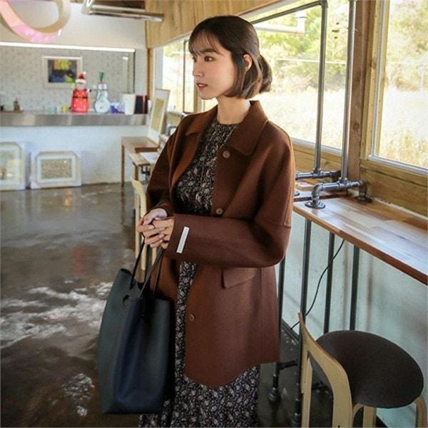 174パスカルウルハプコートnew 女性のコート/ 韓国ファッション/ジャケット/秋冬/レディース/ハーフ/ロング/