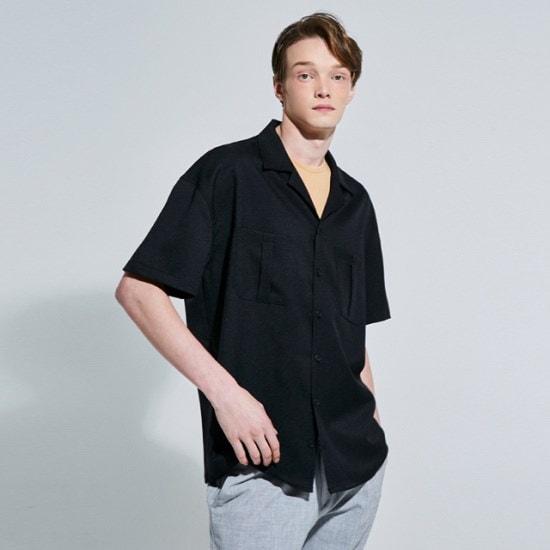ヤンソティンWILD POCKET 12 SHIRTSBLACK シャツ/ロングシャツ/韓国ファッション