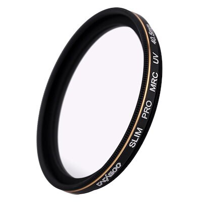 CACAGOO 40.5mm Pro HD Super Slim MRC UV Filter Germany SCHOTT Glass Waterproof Nano Multi-Coated for Canon Nikon Snoy Pentax DSLR Camera