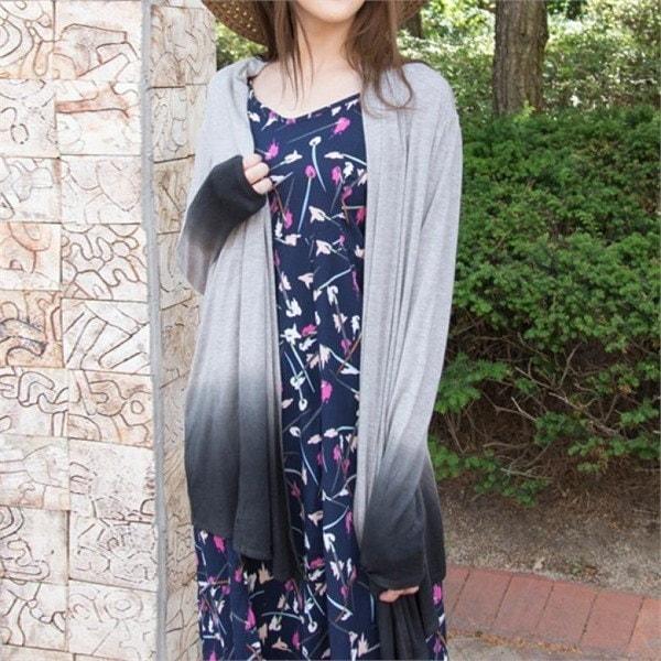 P4860ディプダインソフトレーヨンショールカディゴンnew 女性ニット/カーディガン/韓国ファッション