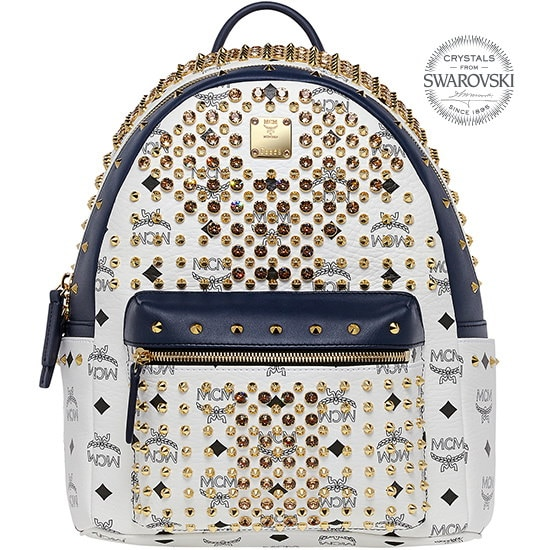 ★【MCM 正規品】★SS15 DIAMOND VISETOS SMALL BACKPACK★MWK5SVI52WT★【EMS無料発送】★
