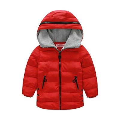 取り外し可能な袖キッズボーイズガールズの冬暖かいベストコートフード付きダウンジャケット生き抜く服