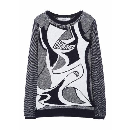 セカンドフロアHockney1 knit pulloverSWMP1KU01100099 ニット/セーター/パターンニット/韓国ファッション