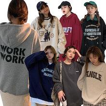 秋服 パーカー 韓国ファッション Tシャツ カラー/種類豊富