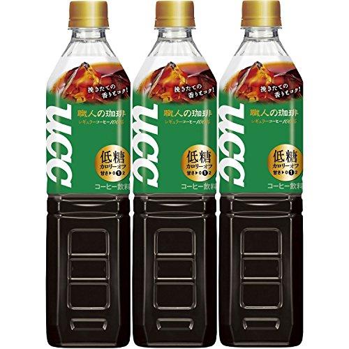 オススメ UCC 職人の珈琲 低糖 ペットボトル 930ml ×3本