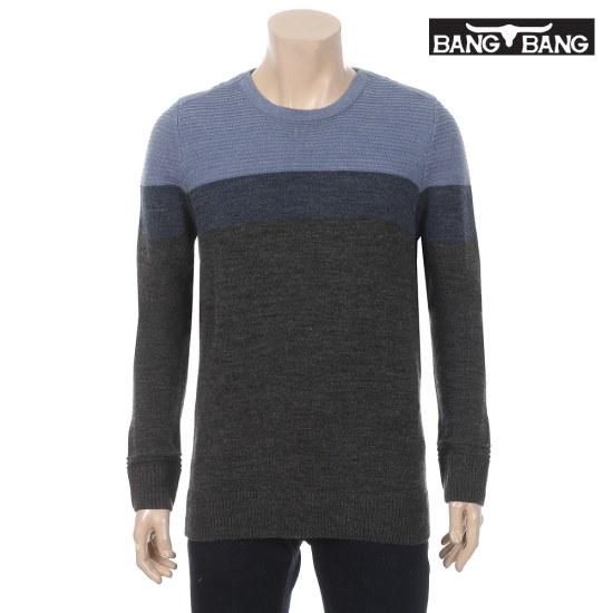 くるくるくるくる男性メルランジ配色プルオーバースカイ ニット/セーター/ニット/韓国ファッション