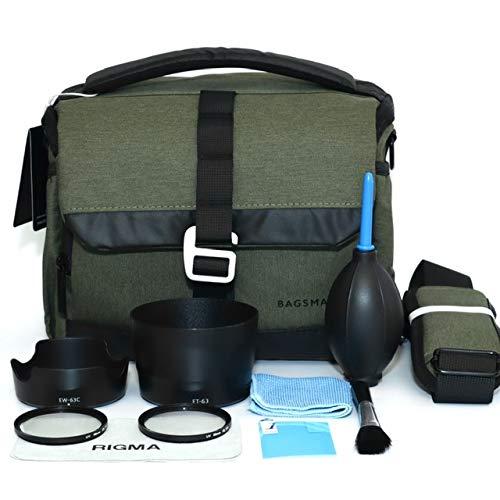 PRO【RIGMA】Canon EOS 80D/9000D/ Kiss X9i ダブルズームキット用 入門アクセサリー 10点セット(フード/レンズ保護フィルター/カメラバック/液晶保護フィルム/ブロ