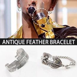 【送料無料】BIGBANG SOL[MADE]活動中のファッションアイテム!アンティークフェザー羽根 ブレスレットAntique feather  ANTIQUE FEATHER BRACELET