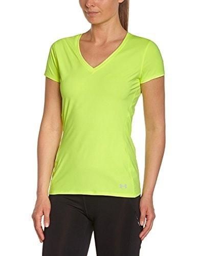 Under Armour Womens ArmourVent HeatGear Short Sleeve V-Neck Shirt (Medium, Yellow)