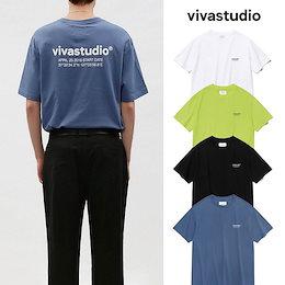 [vivastudio] LOCATION SHORT SLEEVE ビバスタジオ 半袖 Tシャツ オーバーサイズ レディース メンズ 韓国ファッション