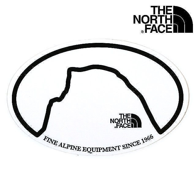 【メール便】ザ・ノースフェイス THE NORTH FACE TNFプリントステッカー TNF PRINT STICKER NN31710 SS20 HD ハーフドーム ホワイト系 【日本正規品】