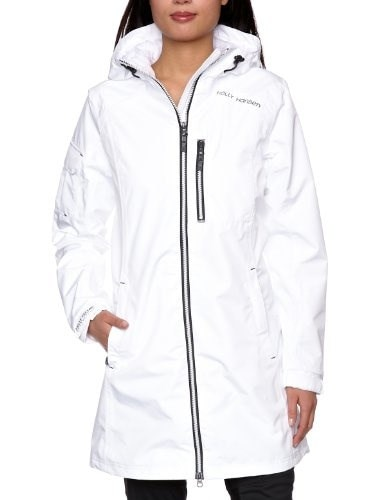 Helly Hansen Womens Long Belfast Jacket, White, Large