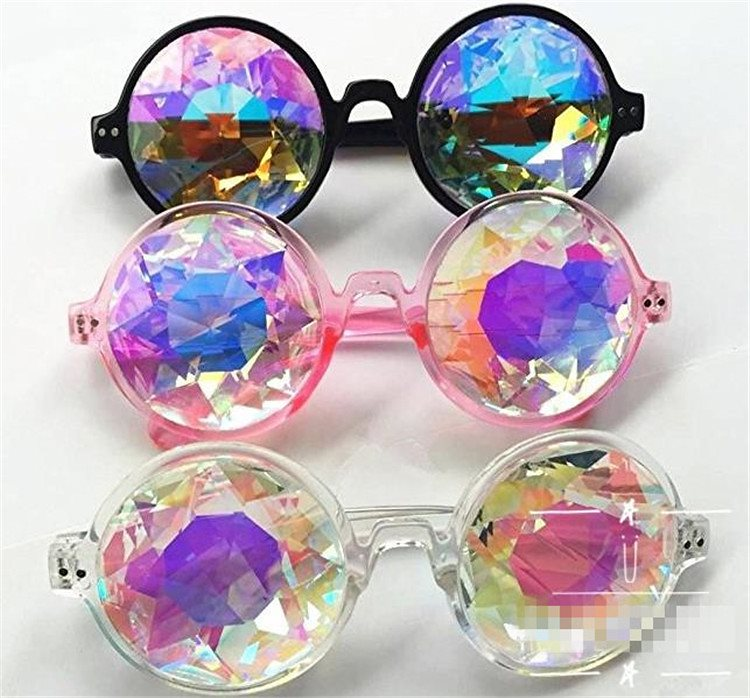 2020new\特価SALE 激安セール 万華鏡 サイケデリック メガネ ダイヤモンド レーザー レトロ 円形 ダイヤモンド サングラス サングラス 電子音楽祭 めがね