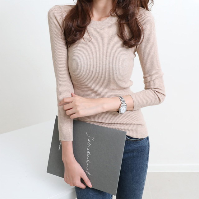 [Deming] Knit soft knit gentle knit white color knit pastel color knit 6