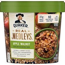 Quaker Real Medleysアップルウォルナットオートミールカップ-2.64oz