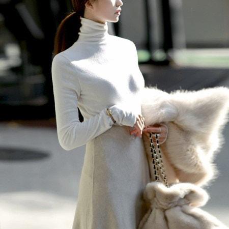[ディントゥ] E-4224カロンデイリーポーラトップkorea fashion style