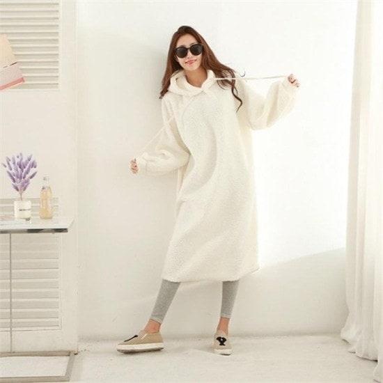 ピピン行き来するようにピピンブルックスポグルフードワンピース35021 プリントのワンピース/ 韓国ファッション