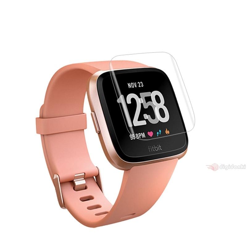 Fitbit Versa 2 スマートウォッチ用強化ガラス保護フィルム/液晶保護フィルム 保護シートシール/表面硬度9H/貼りやすい/衝撃吸収【J276】