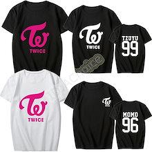 大人気!おまけ付き!TWICE 服 衣装  TWICEコンサート Tシャツ 男女半袖Tシャツ ペアルック服 公式グッズ トップス TWICEグッズ 韓国ファッション