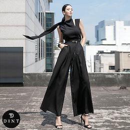 「DINT」 ★送料無料★D4048♥スカーフポイントジャンプスーツ(ベルトSET)♥セレブ系オフィススタイル♥韓国ファッションブランドDINTのオシャレなオフィススタイル提案!