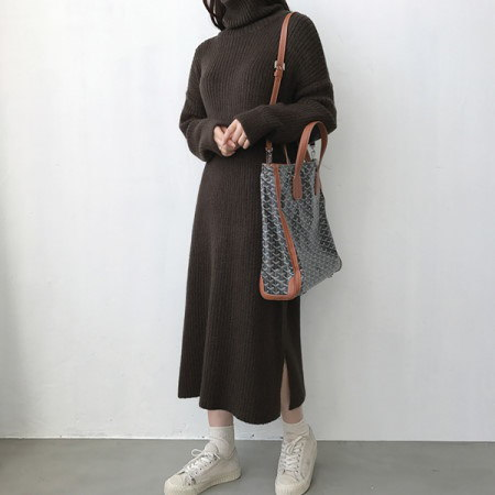 マチルポーラニットワンピースKorean fashion style