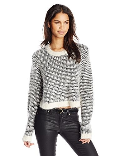 MINKPINK Womens Double Dare Waffle Sweater, Multi, Small
