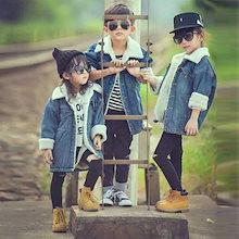 デニムジャケット デニムコート Gジャン 長袖 子供服 男の子 女の子 キッズ 子供服 こども 子ども 女の子 男の子 コート アウター 裏起毛 子ども服 秋服 冬服 防寒 男女兼用 ショート丈