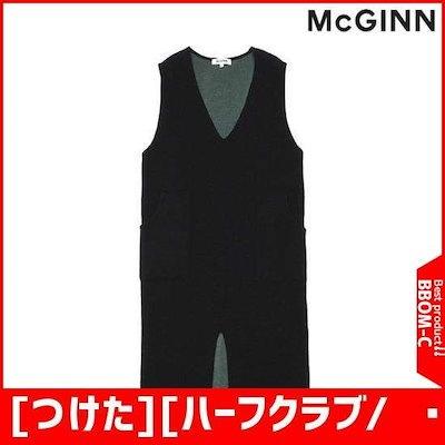 [つけた][ハーフクラブ/つけた]の前に広がることニットロングベスト(MG4KV631) /ベスト・ジャケット/ 韓国ファッション