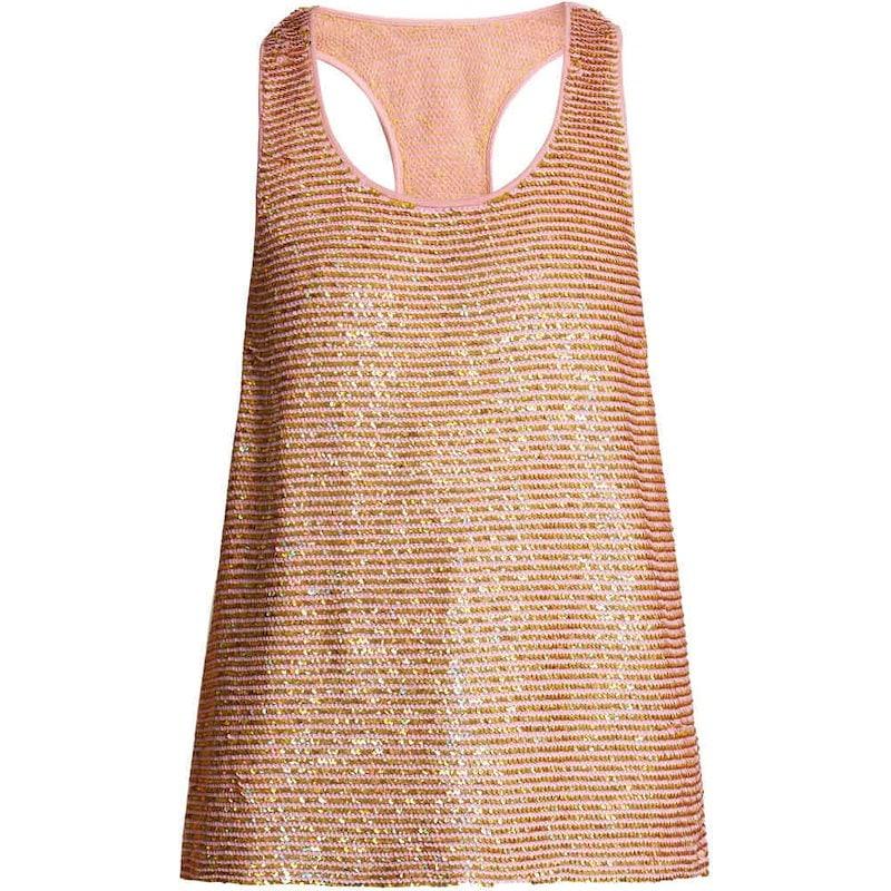 アシシュ レディース トップス【Striped sequin-embellished silk top】Pink