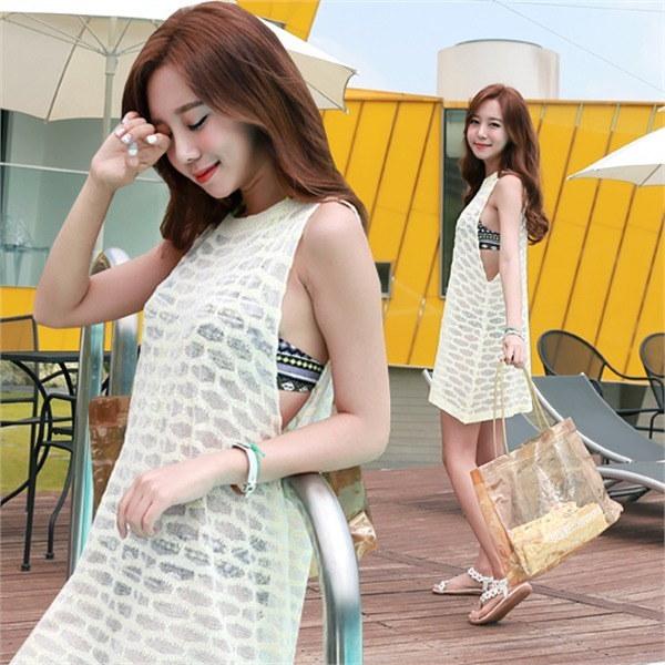 kt291スルロスィ夏ニットビーチウェアデイリーシースルー網タイツnew 女性ニット/ Vネックニット/韓国ファッション