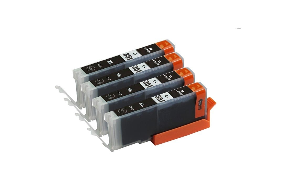 351XLBK 4本セット 大容量 ブラック 互換インクキャノンプリンター用互換インクタンク残量表示 ICチップ付