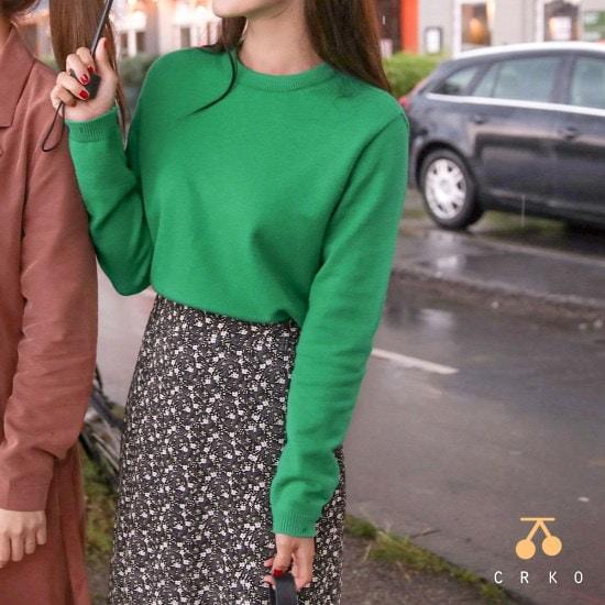 チェリーココwind land green、knitC707PAKN24基本ニットグリーン製作 ニット/セーター/韓国ファッション