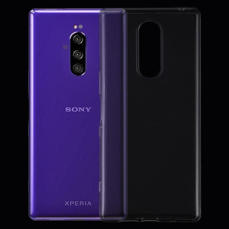 Sony Xperia 1 SO-03L/SOV40用TPUケース/ソフト保護カバー/クリア/保護カバー/極薄0.5mm【F118-2】