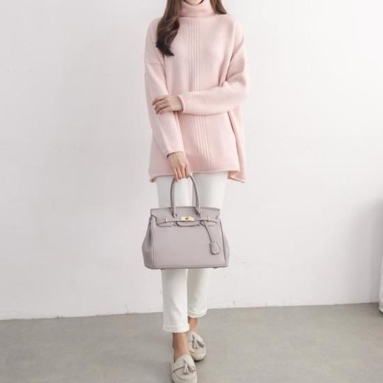 [子供ソーダ(衣類)]パイリンオバフェットポーラニット ニット/セーター/タートルネック/ポーラーニット/韓国ファッション