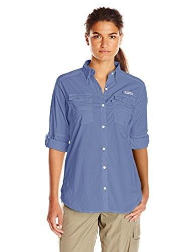 Columbia Womens Bonehead II W Long Sleeve Shirt, Large, Bluebell