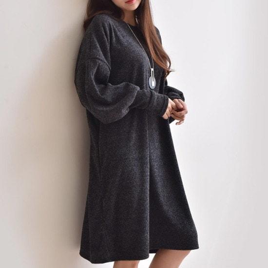 オーサムのジュリアン・パフスリーブワンピース233903 綿ワンピース/ 韓国ファッション