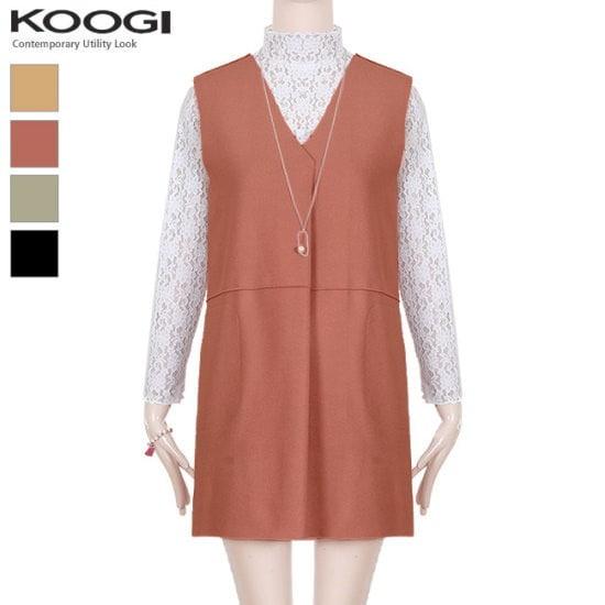 釘宮ブイベストワンピースKL1OP129A 綿ワンピース/ 韓国ファッション