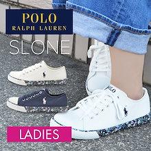 \1サイズ上がオススメです❤/ ポロ ラルフローレン レディーススニーカー POLO RALPH LAUREN SLONE キャンバス スニーカー 女性 婦人
