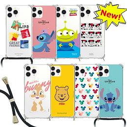 Disney ネックストラップ付き ケース iPhone7/8/SE2 12 mini iPhoneX/XS/XR iPhone11 PROMAX Galaxy_S21_S20 S10 韓国 可愛い